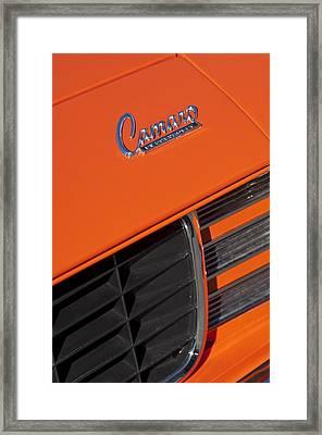1969 Rs-ss Chevrolet Camaro Grille Emblem Framed Print by Jill Reger