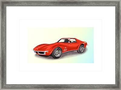 Corvette Stingray 1969  Framed Print by Jack Pumphrey