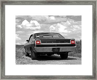 1969 Torino Cobra Jet On A Country Road Framed Print by Gill Billington