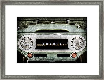 1969 Toyota Fj-40 Land Cruiser Grille Emblem -0444ac Framed Print by Jill Reger