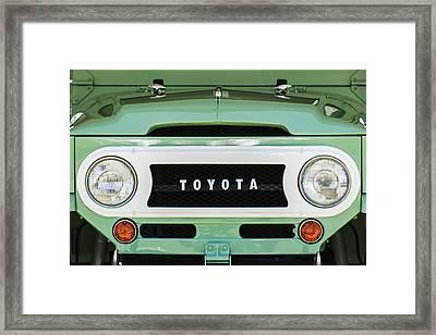 1969 Toyota Fj-40 Land Cruiser Grille Emblem -0444c Framed Print by Jill Reger