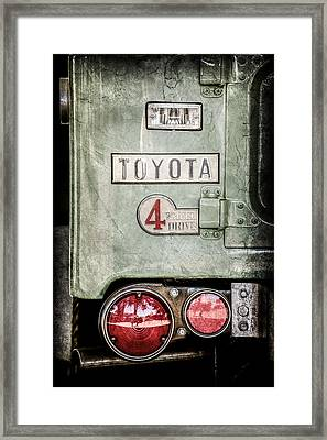 1969 Toyota Fj-40 Land Cruiser Taillight Emblem -0417ac Framed Print by Jill Reger