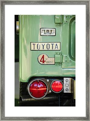1969 Toyota Fj-40 Land Cruiser Taillight Emblem -0417c Framed Print