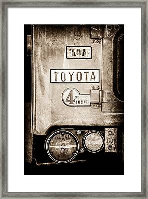 1969 Toyota Fj-40 Land Cruiser Taillight Emblem -0417s Framed Print by Jill Reger