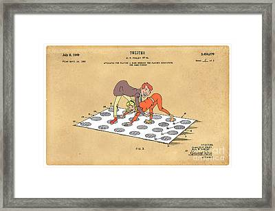 1969 Twister Patent Art 1 Framed Print by Nishanth Gopinathan