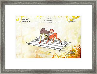 1969 Twister Patent Art 2 Framed Print by Nishanth Gopinathan