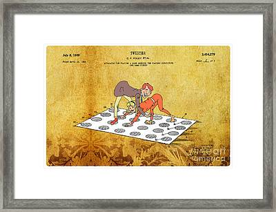 1969 Twister Patent Art 3 Framed Print by Nishanth Gopinathan