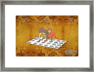 1969 Twister Patent Art 4 Framed Print by Nishanth Gopinathan