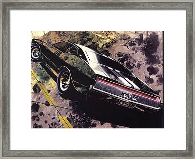 1970 Barracuda Plymouth Vintage Styling Design Concept Sketch Frank Kendrickson Framed Print