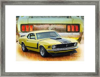 1970 Boss 302 Mustang Framed Print
