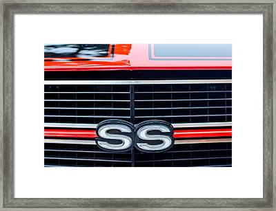 1970 Chevrolet Chevelle Ss 454 Grille Emblem Framed Print by Jill Reger