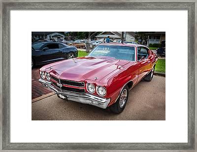 1970 Chevy Chevelle 454 Ss Painted 1970 Chevy Chevelle 454 Ss Painted Bw   Framed Print