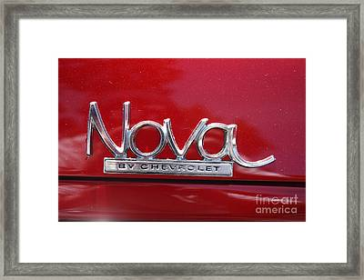 1970 Chevy Nova Logo Framed Print by John Telfer