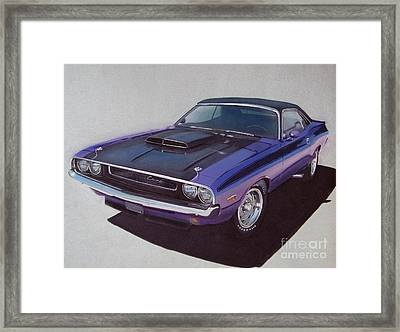 1970 Dodge Challenger Framed Print by Paul Kuras