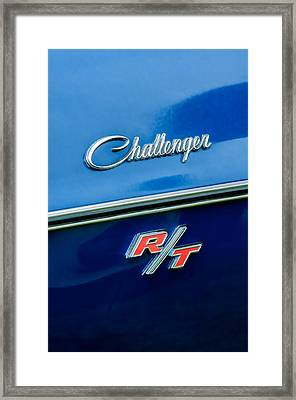 1970 Dodge Challenger Rt Convertible Emblem Framed Print by Jill Reger