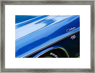 1970 Dodge Challenger Rt Convertible Emblems Framed Print