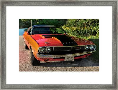 1970 Dodge Challenger Rt Framed Print by Thomas Schoeller