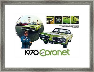 1970 Dodge Coronet R/t Framed Print by Digital Repro Depot