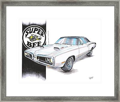 1970 Dodge Super Bee Framed Print by Shannon Watts