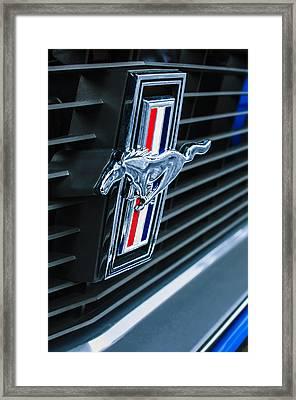 1970 Ford Mustang Boss 302 Fastback Grille Emblem Framed Print