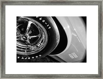 1970 Ford Mustang Boss 429 Wheel Emblem -0387bw Framed Print by Jill Reger