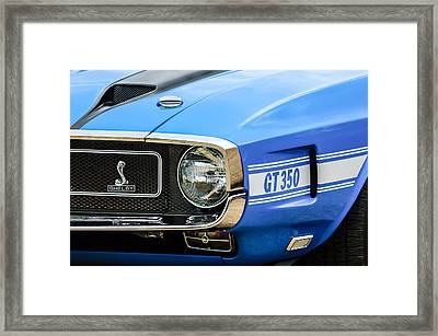 1970 Ford Mustang Convertible Gt350 Replica Grille Emblem Framed Print