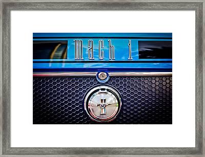 1970 Ford Mustang Gt Mach 1 Emblem Framed Print by Jill Reger