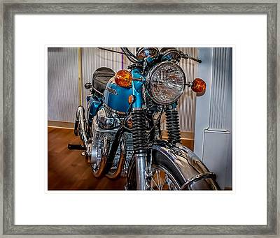 Framed Print featuring the photograph 1970 Honda Cb 750 by Steve Benefiel