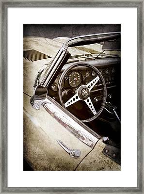 1970 Jaguar Xe Type-e Steering Wheel -1061ac Framed Print by Jill Reger