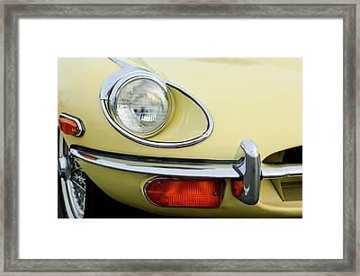 1970 Jaguar Xk Type-e Headlight Framed Print by Jill Reger