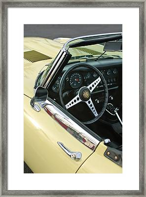 1970 Jaguar Xk Type-e Steering Wheel Framed Print by Jill Reger