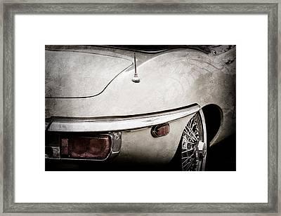 1970 Jaguar Xk Type-e Taillight-1278ac Framed Print by Jill Reger