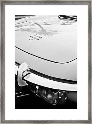 1970 Jaguar Xk Type-e Taillight Emblem Framed Print by Jill Reger