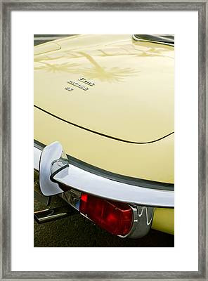 1970 Jaguar Xk Type-e Taillight Framed Print by Jill Reger