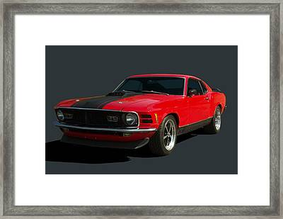 1970 Mustang Mach 1 Framed Print