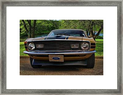 1970 Mustang Framed Print by Tim McCullough