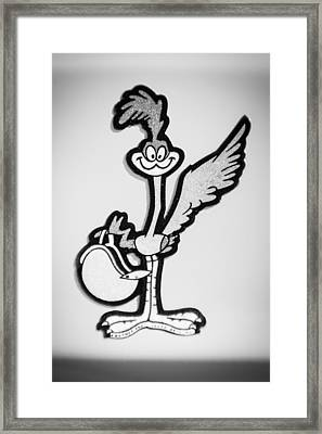 1970 Plymouth Superbird Emblem -1898bw Framed Print