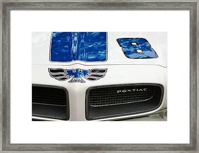 1970 Pontiac Firebird Grille Emblem Framed Print by Jill Reger