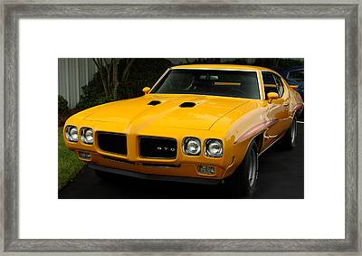 1970 Pontiac Gto. Framed Print