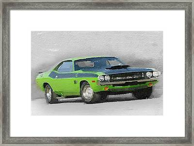 1970-ta-challenger Watercolor Framed Print by Naxart Studio