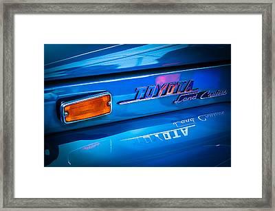 1970 Toyota Land Cruiser Fj40 Hardtop Emblem Framed Print