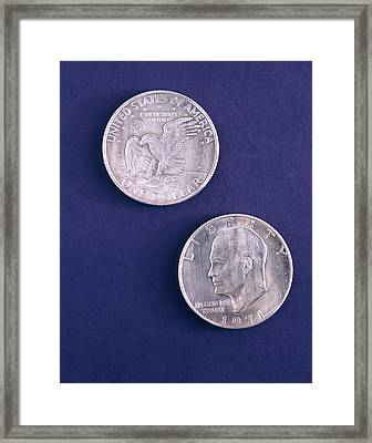 1970s 1971 Eisenhower Dollar Both Sides Framed Print