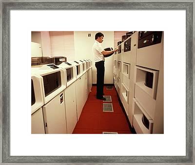 1970s 1980s Computer Technician Change Framed Print