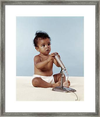 1970s African American Baby Framed Print