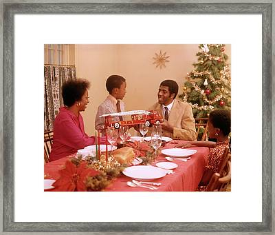 1970s African American Family Framed Print