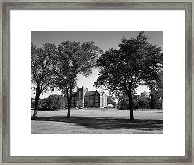 1970s Campus Of Emporia College Framed Print