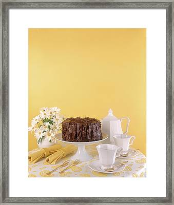 1970s Chocolate Layer Cake With Coffee Framed Print