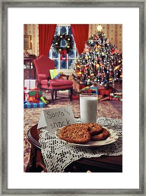1970s Christmas Indoor Living Room Framed Print