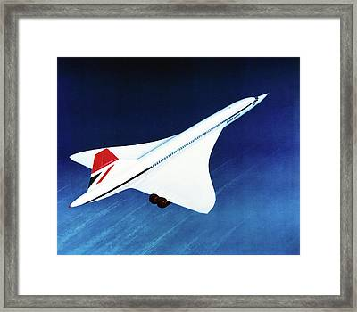 1970s Concorde In Flight Framed Print by Us National Archives