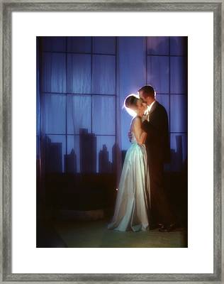 1970s Couple In Formal Attire Dancing Framed Print